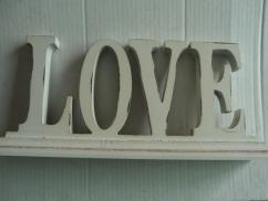 3D Holzschriftzug Vintage LOVE