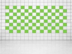 Fliesenaufkleber Lindgrün (A714-01) 20er Set