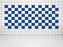 Fliesenaufkleber Ultramarinblau (A752) 20er Set