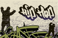 Vlies Fototapete Graffiti Hip Hop