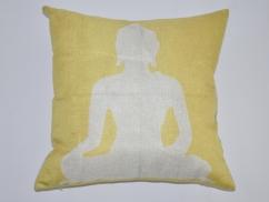 Kissenbezug Buddha Gelb