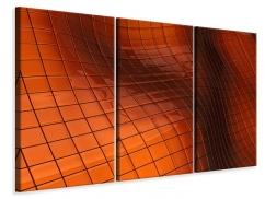 Leinwandbild 3-teilig 3D-Kacheln