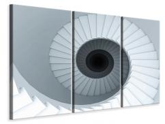 Leinwandbild 3-teilig 3D Wendeltreppe