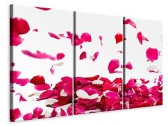 Leinwandbild 3-teilig Für mich soll`s rote Rosen regnen