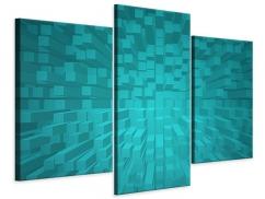 Leinwandbild 3-teilig modern 3D-Kubusse