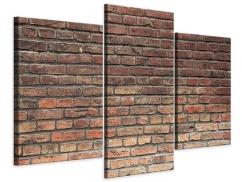 Leinwandbild 3-teilig modern Brick Wall
