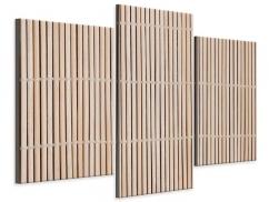 Leinwandbild 3-teilig modern Lucky Bamboo