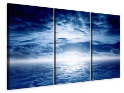 Leinwandbild 3-teilig Mystischer Himmel