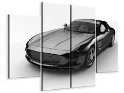 Leinwandbild 4-teilig 007 Auto