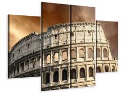 Leinwandbild 4-teilig Kolosseum Rom