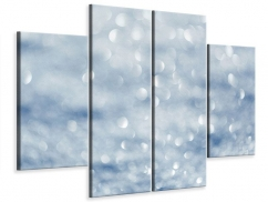 Leinwandbild 4-teilig Kristallglanz
