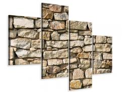 Leinwandbild 4-teilig modern Natursteine