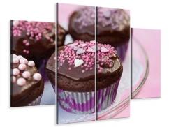 Leinwandbild 4-teilig Muffins