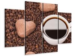 Leinwandbild 4-teilig Pausenkaffee