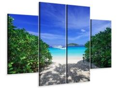 Leinwandbild 4-teilig Similan-Inseln