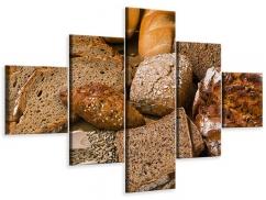 Leinwandbild 5-teilig Brotarten