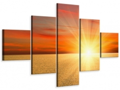Leinwandbild 5-teilig Der Sonnenuntergang