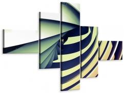 Leinwandbild 5-teilig modern Abstrakte Perspektiven
