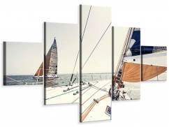 Leinwandbild 5-teilig Segelyacht