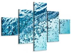 Leinwandbild 5-teilig Wasser in Bewegung