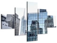 Leinwandbild 5-teilig Wolkenkratzer NYC