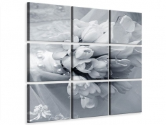 Leinwandbild 9-teilig Romantisches Tulpenbukett