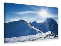 Leinwandbild Der Berg im Schnee
