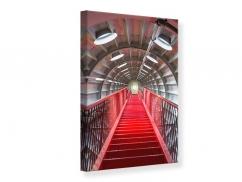 Leinwandbild Futuristische Treppe