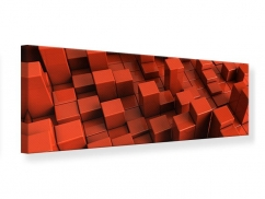 Leinwandbild Panorama 3D-Rechtkant
