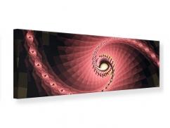 Leinwandbild Panorama Abstrakte Windungen