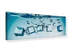 Leinwandbild Panorama Eiswürfel-Quadro