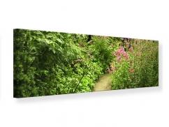 Leinwandbild Panorama Gartenweg