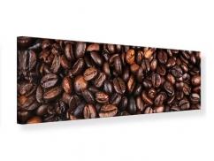 Leinwandbild Panorama Kaffeebohnen in XXL