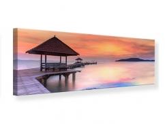 Leinwandbild Panorama Paradiesische Brücke