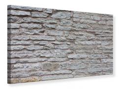 Leinwandbild Steinmauer