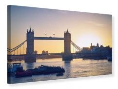 Leinwandbild Tower Bridge bei Sonnenuntergang
