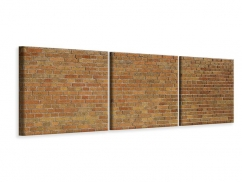 Panorama Leinwandbild 3-teilig Backsteinhintergrund