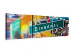 Panorama Leinwandbild 3-teilig Broadway