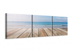 Panorama Leinwandbild 3-teilig Das schöne Strandhaus