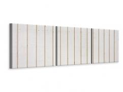 Panorama Leinwandbild 3-teilig Mediterranes Holz