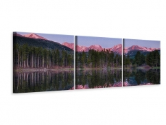 Panorama Leinwandbild 3-teilig Sprague Lake-Rocky Mountains