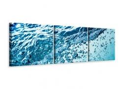 Panorama Leinwandbild 3-teilig Wasser in Bewegung