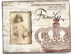 Vintage Holzfotorahmen FAMILY