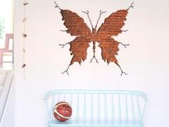 Wandtattoo Durchbruch Schmetterling