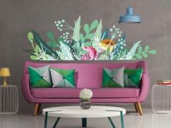 Wandtattoo Farbenprächtige Blumenwiese