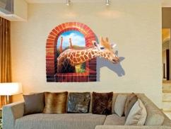 Wandtattoo Giraffen Besuch