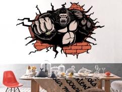 Wandtattoo Gorilla Durchbruch