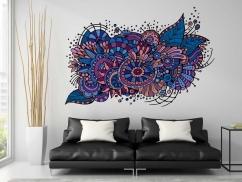 Wandtattoo Kunstvolle Blüten