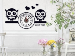 Wandtattoo Love Time inkl. Uhr