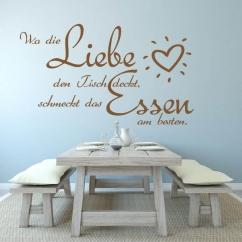 Wandtattoo Wo die Liebe den Tisch deckt